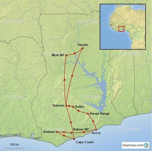 Routekaart vogelreis Ghana - birdingbreaks.jpg