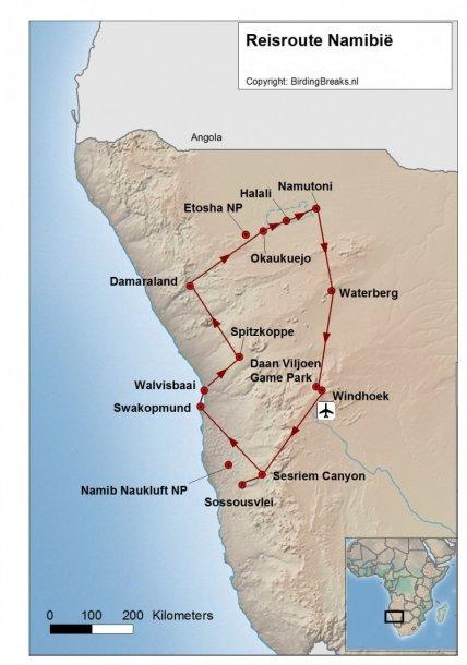 Routekaart vogelreis Namibie - birdingbreaks.jpg