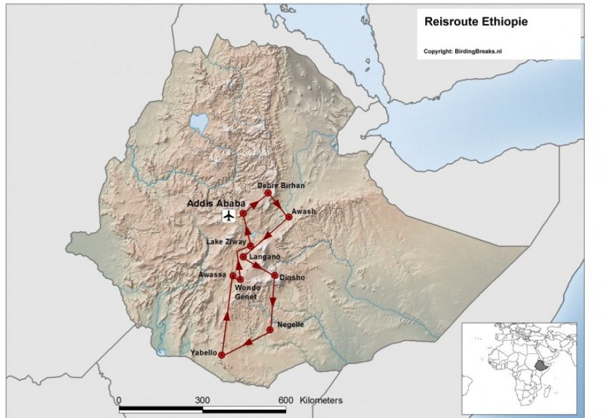 Routekaart vogelreis Ethiopie - birdingbreaks.jpg