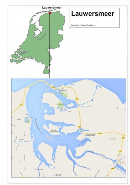 Routekaart Lauwersmeer - BirdingBreaks