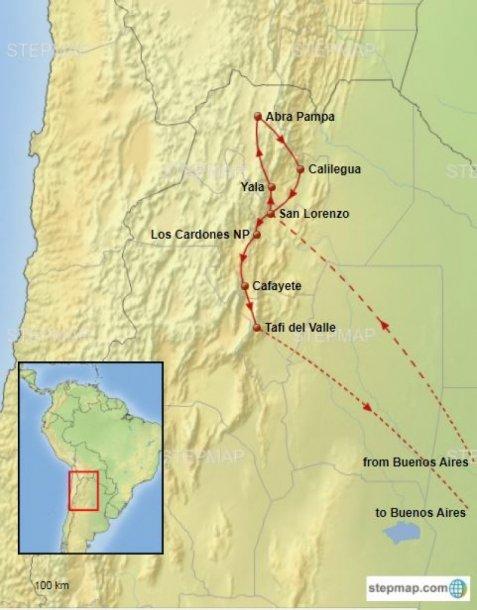 Argentinie groepsreis landschappen