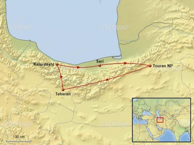 Routekaart Iran