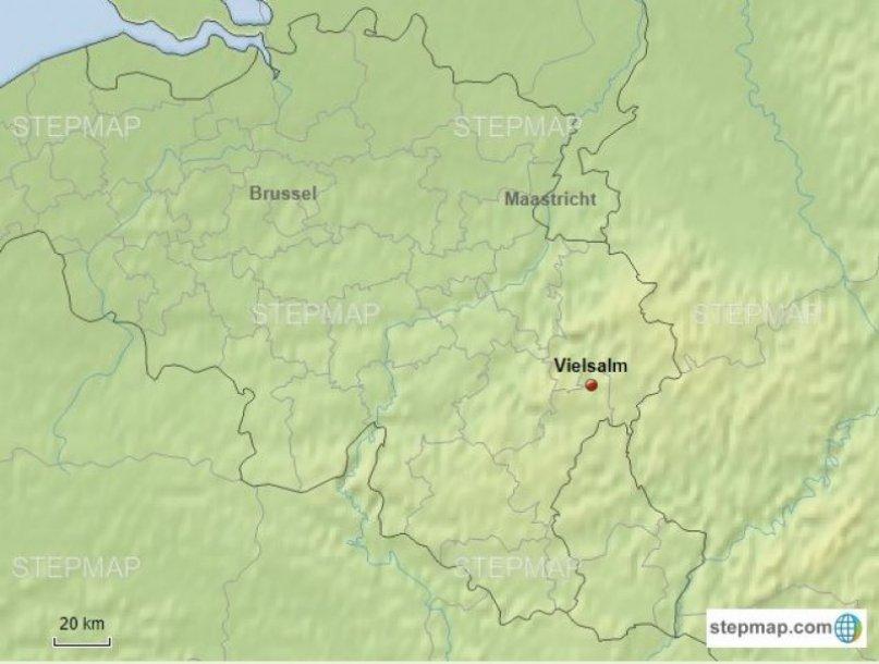 Belgie Ardennen Routekaart
