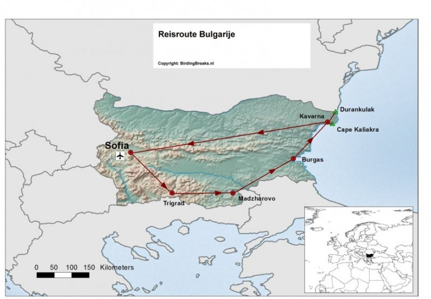 Routekaart Bulgarije voorjaar