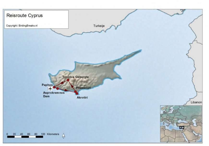 Cyprus Easybirding route