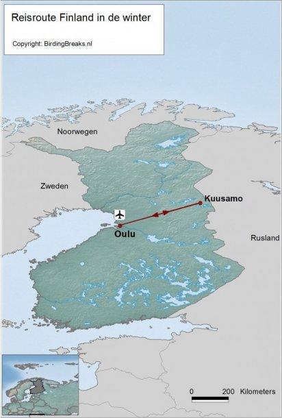 Finland Fotoreis winter route