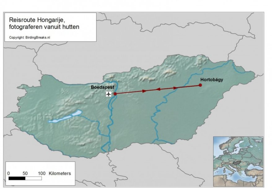 Hongarije Fotoreis hutten route