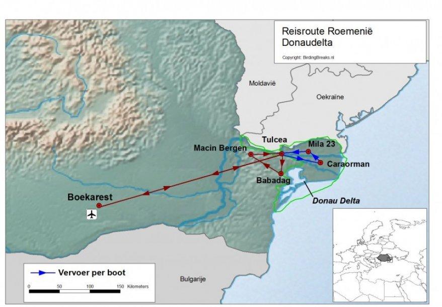 Roemenie groepsreis donaudelta route