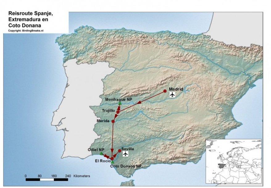 Spanje Extremadura en Coto Donana route