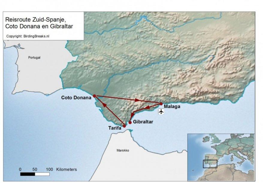 Spanje Tarifa en Coto Doñana route