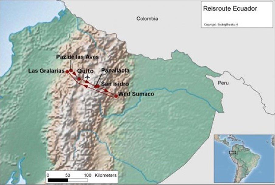 Ecuador Andes route