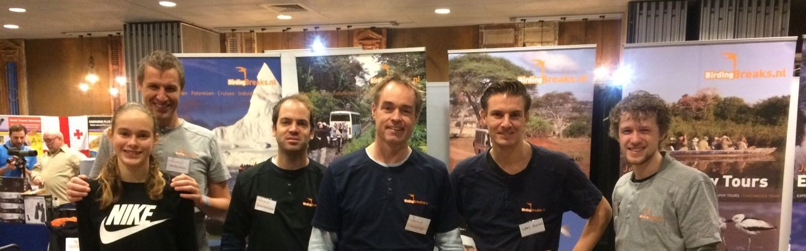 Team BirdingBreaks op de Reisbeurs voor bijzondere reizen, Amsterdam