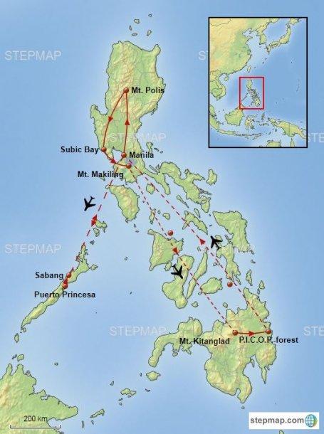 Filipijnen routekaart